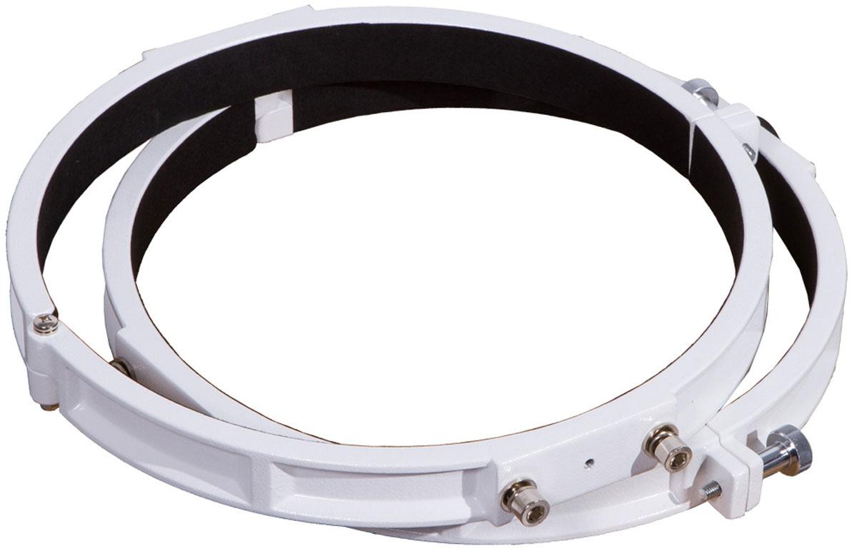Sky-Watcher 69333 кольца крепежные для рефлекторов 300 мм69333С помощью крепежных колец Sky-Watcher 69333 вы сможете быстро установить оптическую трубу на монтировку. Изделия выполнены из прочного алюминия. Винты позволяют надежно зафиксировать трубу в кольцах. Эта модель совместима с зеркальными телескопами с апертурой 300 мм. Кольца подходят для экваториальных монтировок EQ1, EQ2, EQ3-2, EQ4, EQ5, HEQ5, EQ6 и для азимутальной монтировки AZ3.