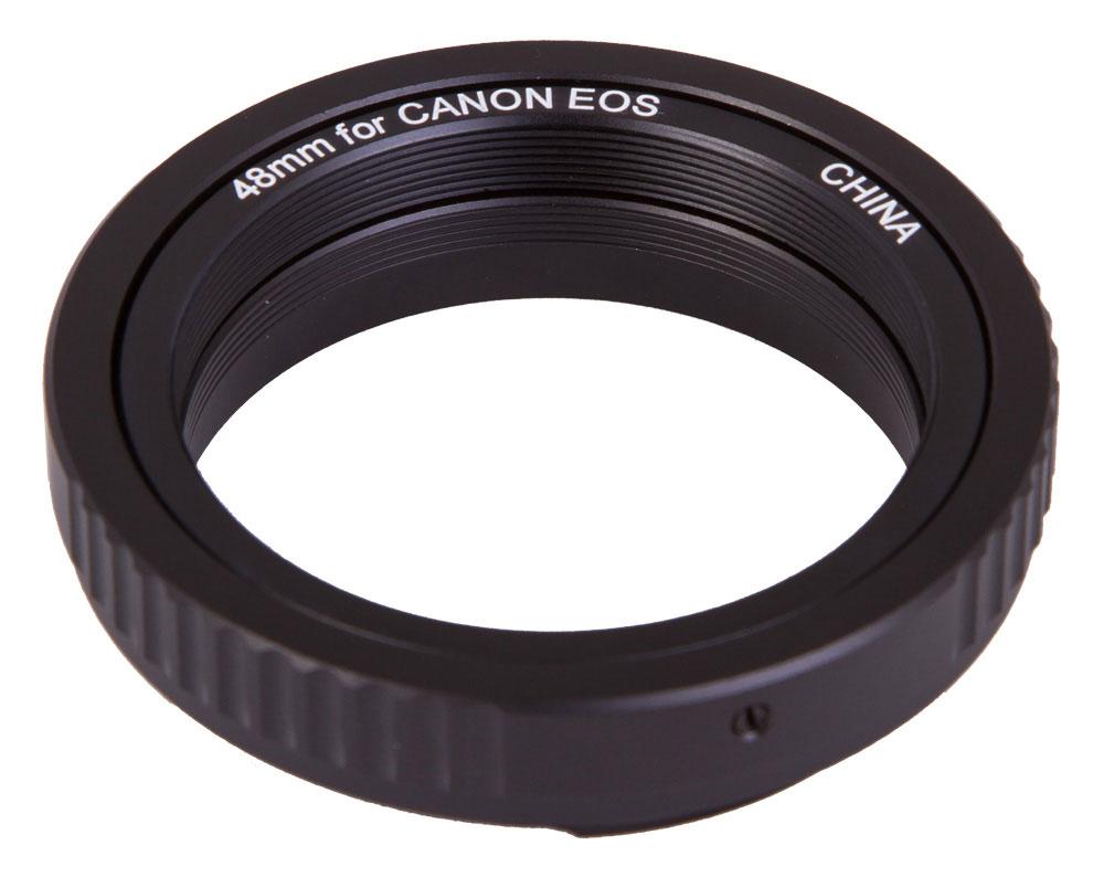 Sky-Watcher 67886 Т-кольцо для камер Canon M4867886Т-кольцо Sky-Watcher используется для астрофотографии. С помощью этого аксессуара вы сможете присоединить цифровую камеру к телескопу. Данная модель предназначена для камер Canon. Т-кольцо дает возможность присоединить камеру к любому редуктору фокуса 0,85x или корректору комы. Для соединения с другими видами астроаксессуаров может потребоваться Т-кольцо другого диаметра (обычно М42).
