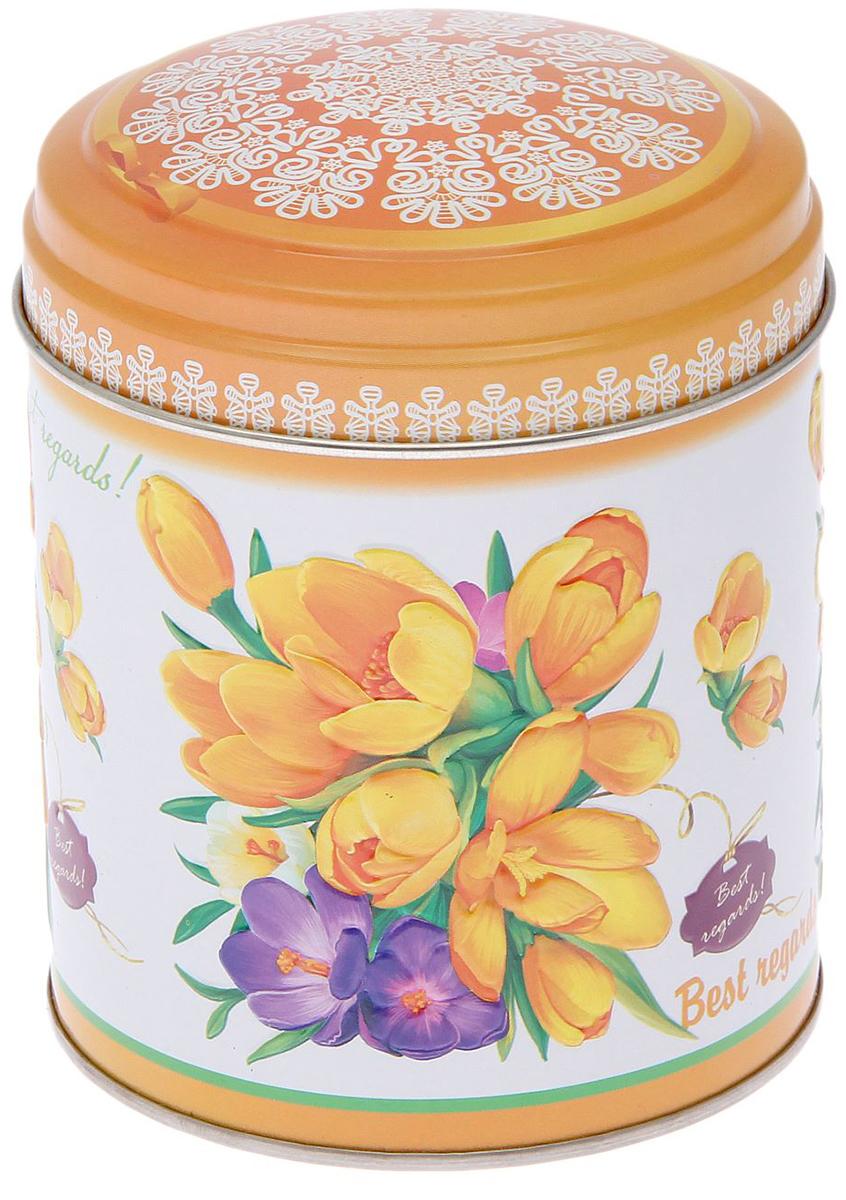 Банка для сыпучих продуктов Рязанская фабрика жестяной упаковки Садовые цветы. Крокусы, 800 мл2107379_крокусы