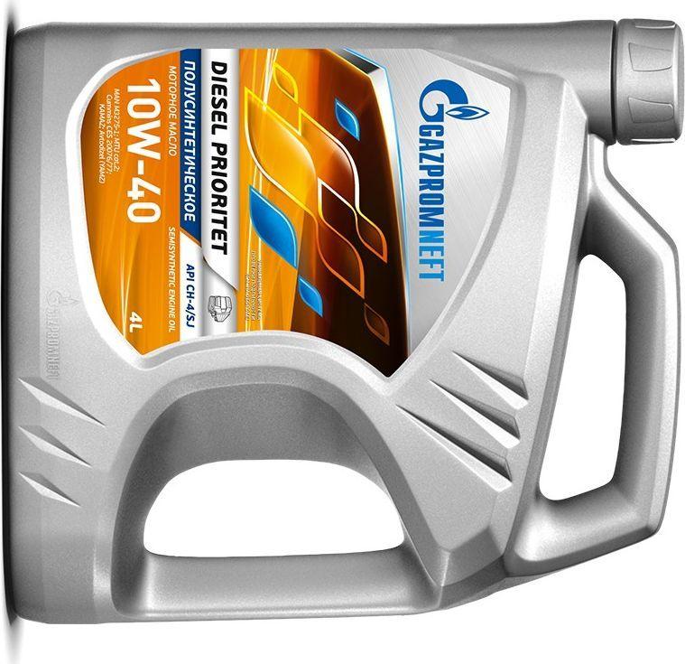 Масло моторное Gazpromneft Diesel Prioritet 15W-40, API CH-4/SJ, ACEA E7, A3/B4, минеральное, 4 л2389901345Всесезонное универсальное минеральное моторное масло, производится с использованием высококачественных базовых масел и сбалансированного пакета присадок. Разработаны в соответствии с экологическими нормами Евро-3, заменяют масла групп API CG-4, CF-4. Рекомендуются для применения в смешанных парках, имеющих в своем составе дизельную высоко и средненагруженную технику и технику с бензиновыми двигателями. Улучшенные вязкостно-температурные свойства (за счет увеличения индекса вязкости базовых масел) обеспечивают стабильные вязкостные свойства масла в процессе эксплуатации, надежное смазывание и охлаждение деталей двигателя в широком диапазоне нагрузок и температур окружающей среды. Повышенная термоокислительная стабильность масла обеспечивает увеличение ресурса и стабильность эксплуатационных свойств. Обеспечивают максимальную защиту двигателя от коррозии и образования высокотемпературных отложений при тяжелых режимах эксплуатации за счет использования высокоэффективных моюще-диспергирующих присадок и улучшенных базовых масел (с пониженной испаряемостью и сниженным содержанием серы). Защищает детали двигателя от износа, предотвращая полировку цилиндров.Одобрения / Соответствия / Уровень свойств: API CH-4/SJ; MAN M 3275-1; MTU Сat.2; Cummins CES 20076/77; ПАО «КАМАЗ»; ПАО «Автодизель» (ЯМЗ); ААИ Д5.