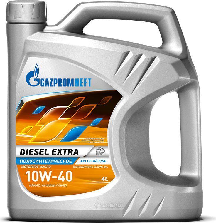 Масло моторное Gazpromneft Diesel Extra 10W-40, API СF-4/CF/SG, полусинтетическое, 4 л2389901351Всесезонное универсальное полусинтетическое моторное масло, производится с использованием высококачественных базовых масел и сбалансированного пакета присадок. Благодаря использованию улучшенных базовых масел моторное масло обладает: увеличенным сроком службы, сниженным расходом масла на угар и увеличенной стойкостью к химической коррозии.Разработано в соответствии с экологическими нормами Евро-2. Обеспечивает высокую нейтрализующую способность при повышенном содержании серы в дизельном топливе. Рекомендуется для применения в дизельных двигателях с большим пробегом/наработкой моточасов. Использование высокоэффективного импортного пакета присадок гарантирует снижение образования смолистых и лаковых отложений на поверхностях двигателя и нагара на стенках цилиндров и поршней, обеспечивая чистоту двигателя. Обеспечивает надежную защиту двигателя при высоких температурах окружающей среды.Одобрения / Соответствия / Уровень свойств: API CF-4, API SG, ПАО «КАМАЗ», ПАО «Автодизель» (ЯМЗ), ААИ Д3.