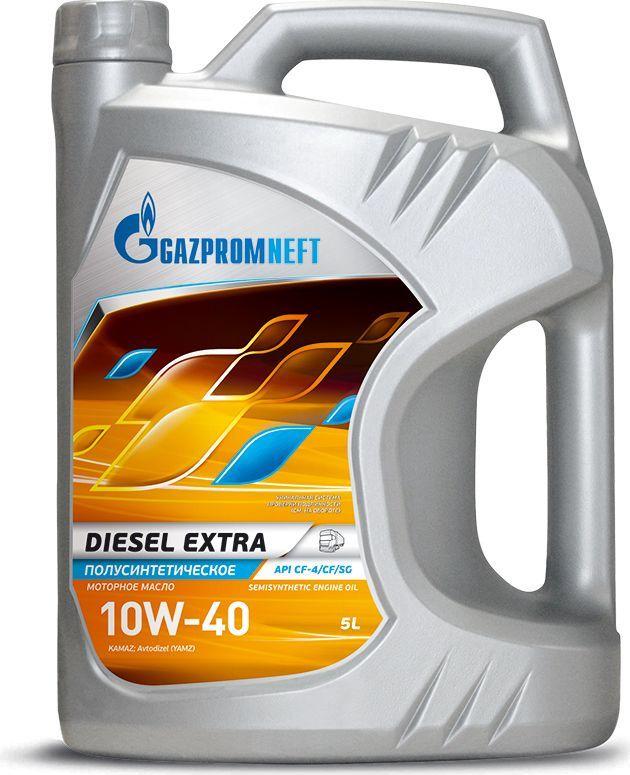 Масло моторное Gazpromneft Diesel Extra 10W-40, API СF-4/CF/SG, полусинтетическое, 5 л2389901352Всесезонное универсальное полусинтетическое моторное масло, производится с использованием высококачественных базовых масел и сбалансированного пакета присадок. Благодаря использованию улучшенных базовых масел моторное масло обладает: увеличенным сроком службы, сниженным расходом масла на угар и увеличенной стойкостью к химической коррозии.Разработано в соответствии с экологическими нормами Евро-2. Обеспечивает высокую нейтрализующую способность при повышенном содержании серы в дизельном топливе. Рекомендуется для применения в дизельных двигателях с большим пробегом/наработкой моточасов. Использование высокоэффективного импортного пакета присадок гарантирует снижение образования смолистых и лаковых отложений на поверхностях двигателя и нагара на стенках цилиндров и поршней, обеспечивая чистоту двигателя. Обеспечивает надежную защиту двигателя при высоких температурах окружающей среды.Одобрения / Соответствия / Уровень свойств: API CF-4, API SG, ПАО «КАМАЗ», ПАО «Автодизель» (ЯМЗ), ААИ Д3.
