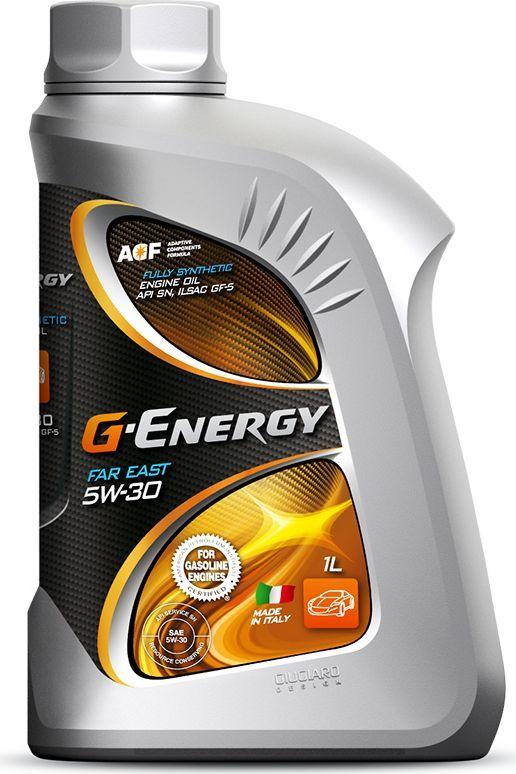 Масло моторное G-Energy Far East 5W-30, API SN, ILSAC GF-5, синтетическое, 1 л253141933Полностью синтетическое (Fully Synthetic) моторное масло. Предназначено для самых современных бензиновых двигателей легковых автомобилей, легких грузовиков, джипов, микроавтобусов производства Японии, Кореи и Америки, где требуются энергосберегающие масла уровня ILSAC GF-5.По своим эксплуатационным характеристикам превосходит масла, соответствующие требованиям ILSAC GF-4. Обеспечивает топливную экономичность за счет использования специально подобранной композиции базовых масел и пакета присадок, включающего современные модификаторы трения. Подтверждено прохождением теста Sequence VID на двигателе GM V6 3.6L модели 2008 года. Масло обеспечивает чистоту двигателя, предохраняет от образования шламов, нагара и лака на деталях двигателя. Отвечает повышенным требованиям категории ILSAC GF-5 к чистоте поршня (препятствует образованию высокотемпературных отложений). Обеспечивает надёжную защиту внутренних поверхностей турбонаддува от различного рода отложений, блокировки масляных каналов и, как следствие, препятствует выходу турбонагнеталя из строя, что подтверждено прохождением теста на термоокислительную стабильность моторного масла TEOST 33C. Масло совместимо с наиболее распространёнными материалами уплотнений, что подтверждено прохождением тестов, предписанных в спецификации ILSAC GF-5 (совместимо с уплотнителями такими, как: полиакрилатная резина, нитрильная резина, кремневая резина, фторуглеродная резина и этилен-акриловая резина). При эксплуатации автомобиля на топливе Е-85 (85% этилового спирта + 15% «традиционного» бензина) предотвращает коррозию внутренних поверхностей двигателя и поддерживает воду, образующуюся в процессе сгорания биотоплива в виде эмульсии.Одобрено: API SN (лицензия), ILSAC GF-5
