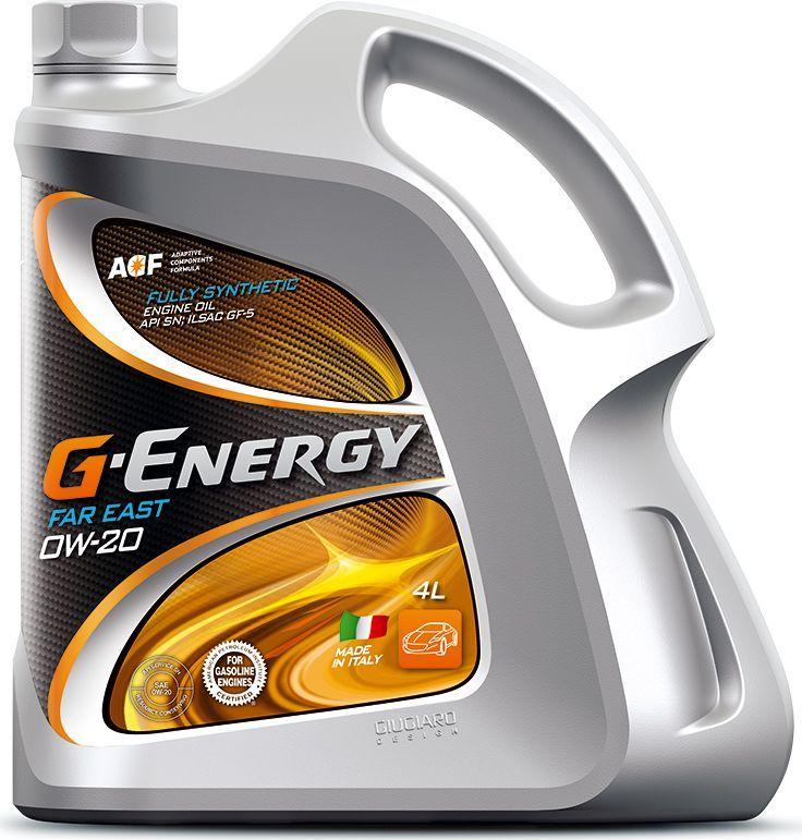 Масло моторное G-Energy Far East 0W-20, API SN, ILSAC GF-5, синтетическое, 4 л зимняя резина на оку в москве