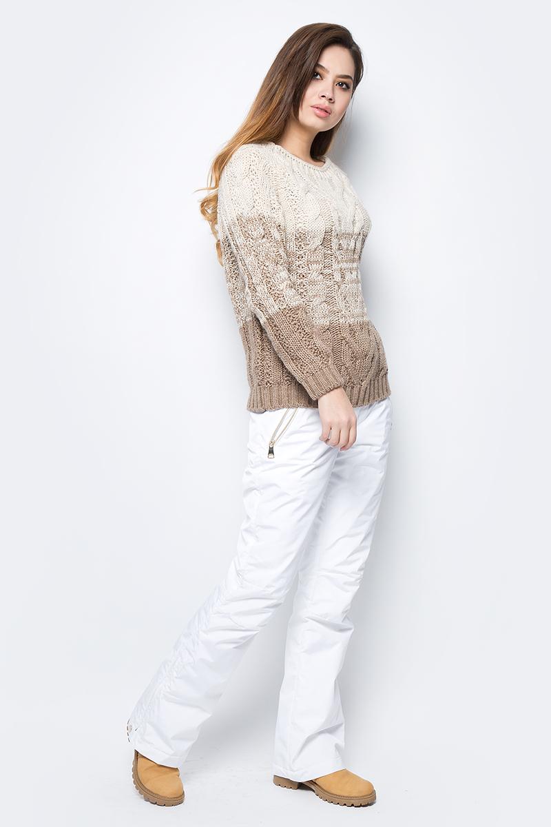 Брюки женские Luhta, цвет: белый. 838713374LV_980. Размер 42 (50) брюки утепленные luhta luhta lu692egxnj34