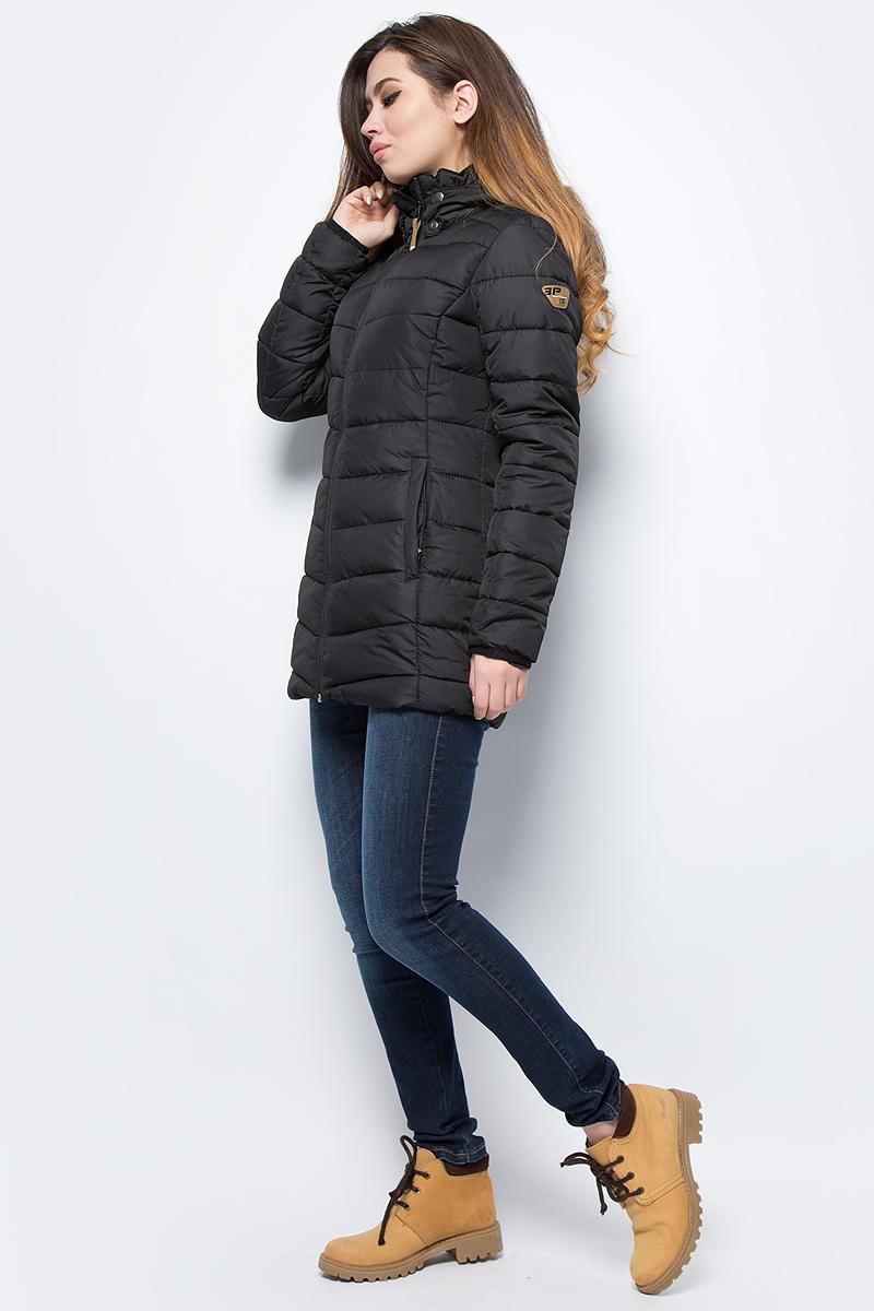 Куртка женская Icepeak, цвет: черный. 853035520IV_990. Размер 38 (44) куртка женская icepeak цвет фуксия 853115523ivx 750 размер 38 44