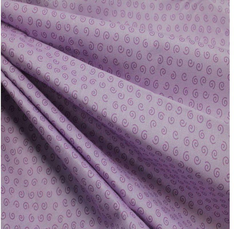 Ткань Кустарь Разноцветный горошек и завитушки №37, цвет: сиреневый, 48 х 50 смAM623090Ткань Кустарь - это высококачественная ткань из 100% хлопка, которая отлично подходит для пошива покрывал, сумок, панно, одежды, кукол. Также подходит для рукоделия в стиле скрапбукинг и пэчворк.Плотность ткани: 120 г/м2. Размер: 48 х 50 см.
