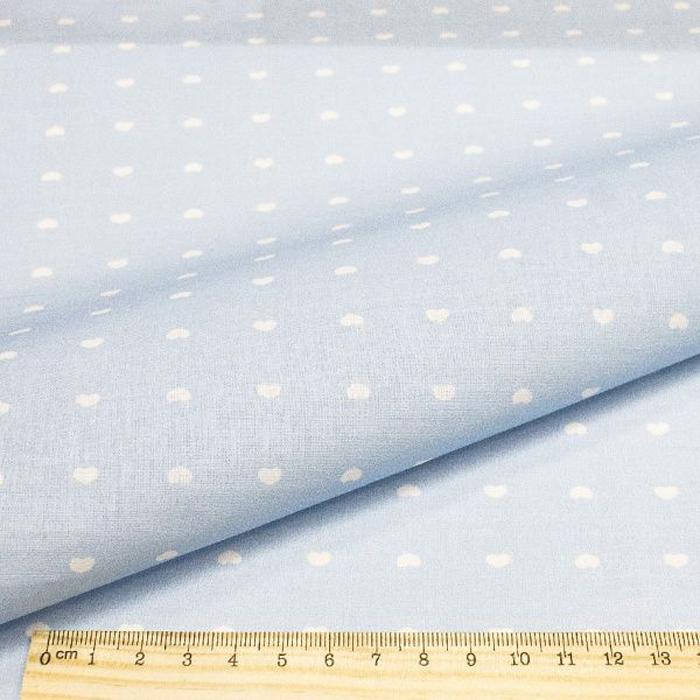 Ткань Кустарь Совушки и птички №16, цвет: голубой, белый, 48 х 50 см подвеска кустарь кошка 10 см х 12 см х 0 4 см