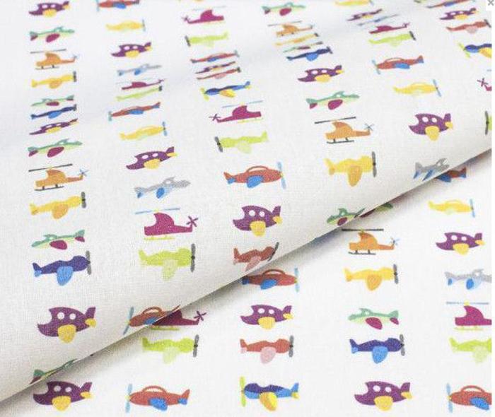 Ткань Кустарь Детские фантазии №1, цвет: белый, желтый, зеленый, фиолетовый, 48 х 50 смAM627001Ткань Кустарь - это высококачественная ткань из 100% хлопка, которая отлично подходит для пошива покрывал, сумок, панно, одежды, кукол. Также подходит для рукоделия в стиле скрапбукинг и пэчворк.Плотность ткани: 120 г/м2. Размер: 48 х 50 см.