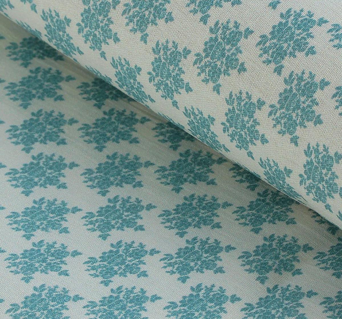 Ткань Кустарь Винтажные Гортензии №4, цвет: серый, голубой, 48 х 50 см подвеска кустарь кошка 10 см х 12 см х 0 4 см