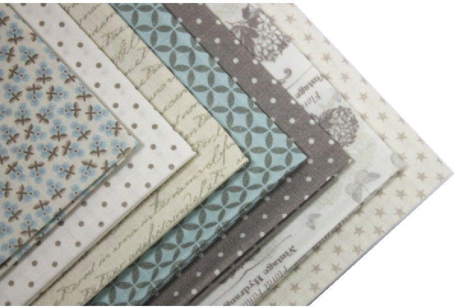 """Ткань Кустарь """"Винтаж"""" - это высококачественная ткань из 100% хлопка, которая отлично подходит для пошива покрывал, сумок, панно, одежды, кукол. Также подходит для рукоделия в стиле скрапбукинг и пэчворк. В наборе 7 тканей различных расцветок.  Плотность ткани: 120 г/м2. Размер: 48 х 50 см. ."""