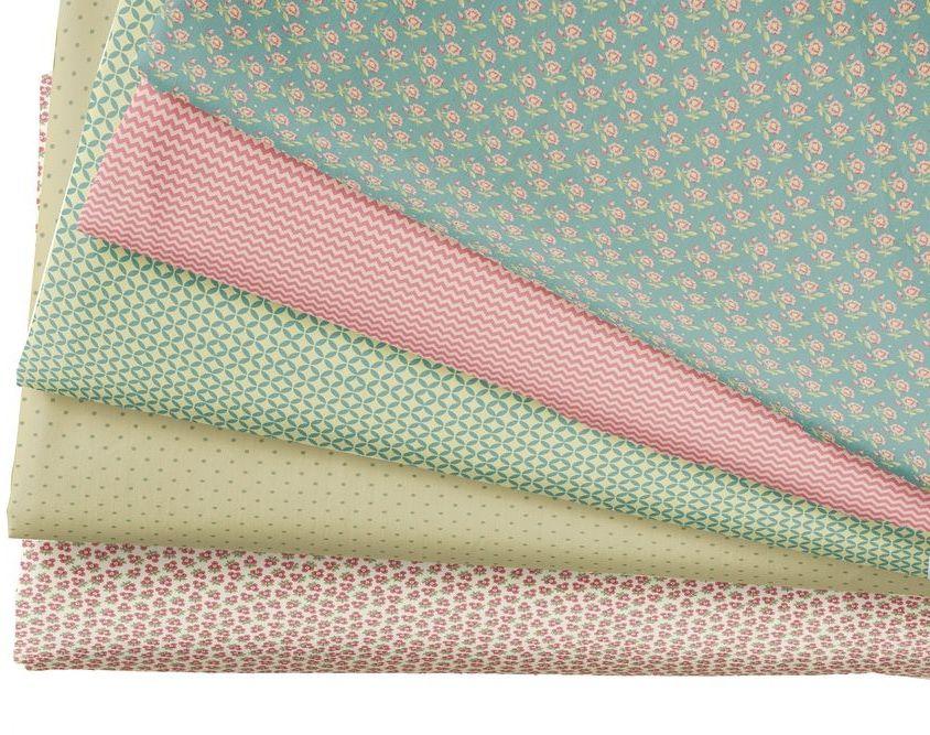 Набор тканей для пэчворка Кустарь, цвет: бежевый, зеленый, розовый, 48 х 50 смAM501010Ткань Кустарь - это высококачественная ткань из 100% хлопка, которая отлично подходит для пошива покрывал, сумок, панно, одежды, кукол. Также подходит для рукоделия в стиле скрапбукинг и пэчворк. В наборе 5 тканей разных расцветок. Плотность ткани: 120 г/м2.Размер: 48 х 50 см.