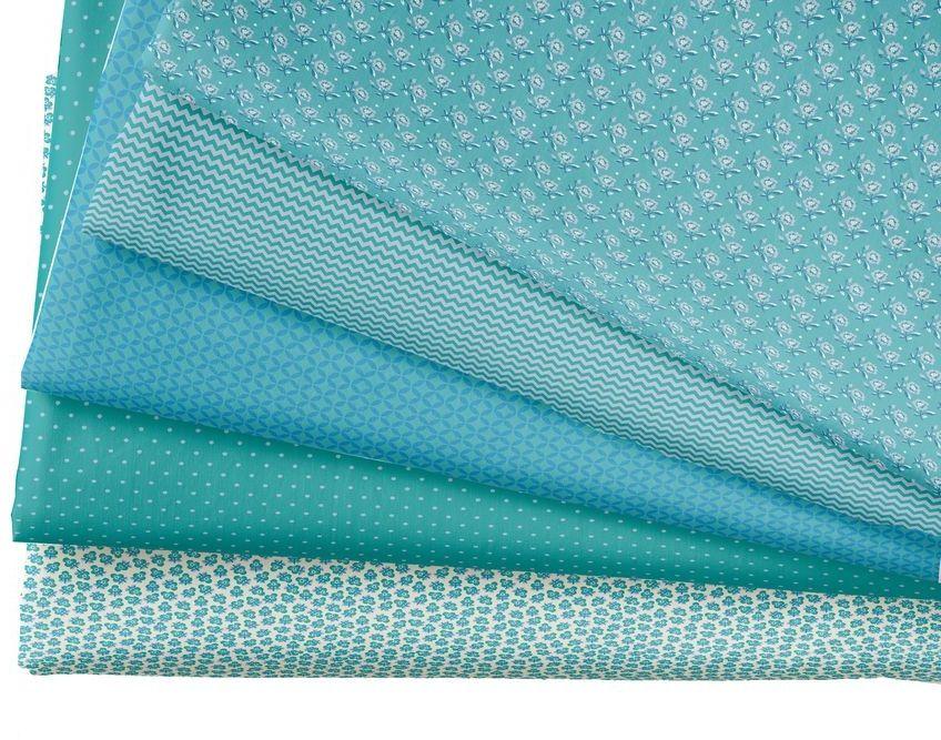 """Ткань """"Кустарь"""" - это высококачественная ткань из 100% хлопка, которая отлично подходит для пошива покрывал, сумок, панно, одежды, кукол. Также подходит для рукоделия в стиле скрапбукинг и пэчворк. В наборе 5 тканей разных расцветок.  Плотность ткани: 120 г/м2. Размер: 48 х 50 см."""