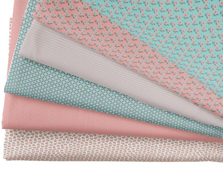 Набор тканей для пэчворка Кустарь, цвет: голубой, розовый, серый, 48 х 50 смAM501014Ткань Кустарь - это высококачественная ткань из 100% хлопка, которая отлично подходит для пошива покрывал, сумок, панно, одежды, кукол. Также подходит для рукоделия в стиле скрапбукинг и пэчворк. В наборе 6 тканей разных расцветок.Плотность ткани: 120 г/м2. Размер: 48 х 50 см.