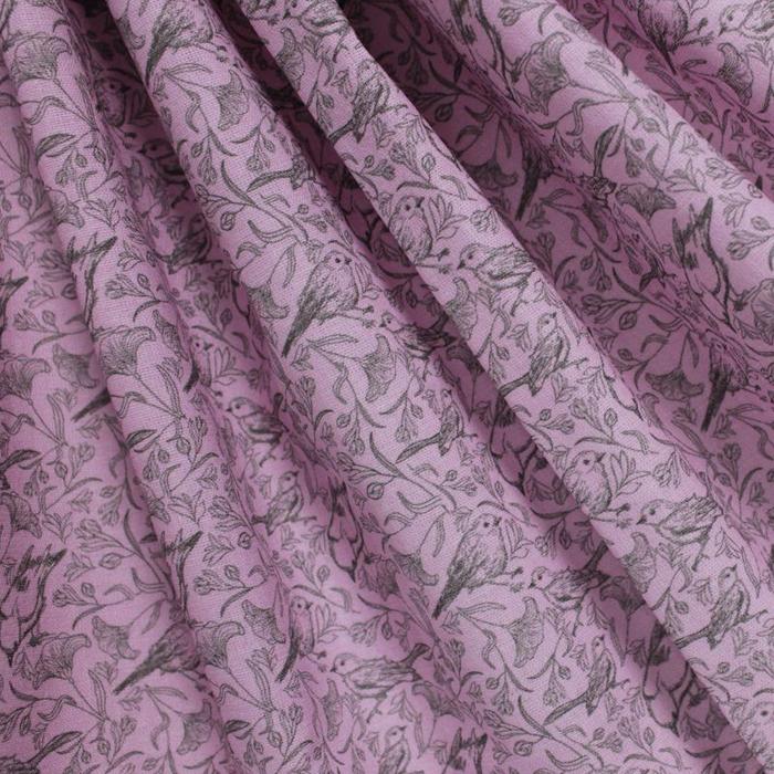 Ткань Кустарь Винтажная классика №4, цвет: сиреневый, черный, 48 х 50 см подвеска кустарь кошка 10 см х 12 см х 0 4 см