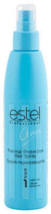 Estel Airex Спрей-термозащита легкой фиксации 200 млAT/200Спрей - термозащита Estel Airex защищает волосы от термовоздействия при применении фена или утюга, обеспечивает легкую фиксацию, не утяжеляя волосы. Содержит протеины шелка. Применяется как на сухие, так и на влажные волосы.В результате легкая эластичная фиксация, термозащита волос, бриллиантовый блеск.