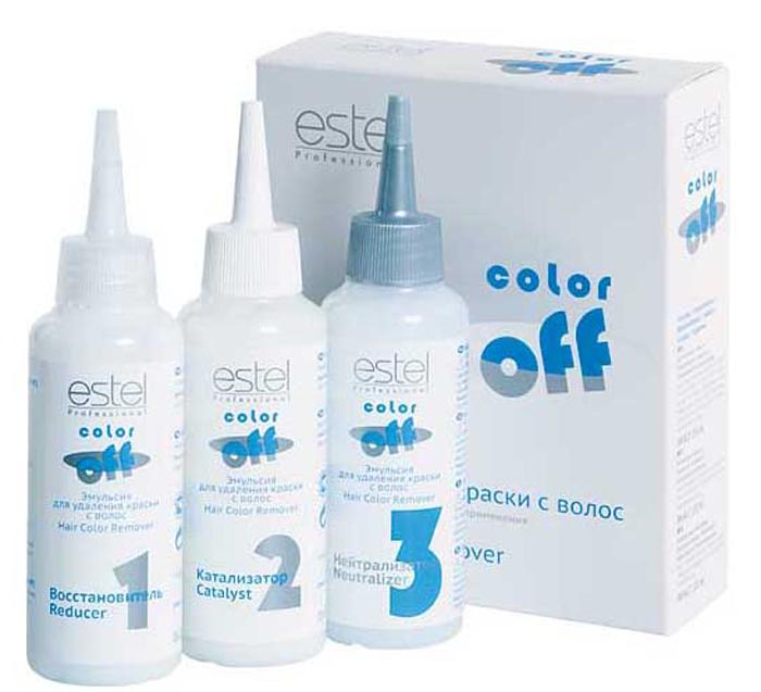 Estel Color off Эмульсия для удаления краски с волос 3*120 млC/FEstel Color off Эмульсия для удаления краски с волос: Надежно удаляет косметический цвет с волос. Сохраняет натуральный пигмент волос. Не содержит осветляющих компонентов и аммиака. Не осветляет волосы. Дает возможность корректировать цвет волос непосредственно после окрашивания. Гарантирует безопасное и бережное удаление красителя.