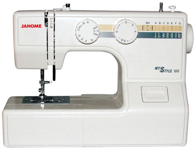 Janome MS 100 швейная машинаMS100Компактная швейная машина Janome MS 100 идеально подходит для начинающих и любителей шитья. Она работает с разными видами тканей. А горизонтальное челночное устройство обеспечивает высокое качество шитья и удобство в заправке. В данную модель встроен электромеханический привод, отвечающий за движение махового колеса. Janome MS 100 оснащена горизонтальным челноком, который обеспечивает создание ровной строчки без запутывания нижней нити. Выполнить различные вариации зигзагообразной строчки поможет система регулировки длины и ширины стежка. Janome MS 100 предусматривает создание 13 различных типов швов и строчек. Эта модель выполняет пуговичные петли в полуавтоматическом режиме.