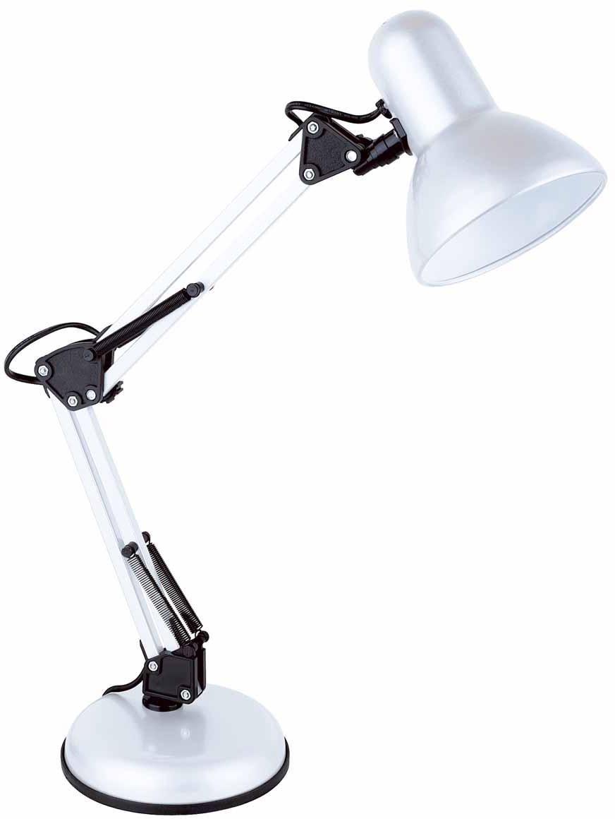 Лампа настольная ЛЮЧИЯ 465 Юниор 40W E27 белая.Назначение: для местного освещения рабочего места.Количество ламп - 1.Лампа в комплекте: нет.Тип патрона: Е27.Мощность лампы: 40W.Тип лампы: накаливания, энергосберегающая.Напряжение: 220 Вольт.Стиль: хай-тек.Диммер: нет.Цвет арматуры: черный.Высота светильника: 560 мм.Фиксация источника света: в любом направлении, 360^Страна изготовитель: Китай.