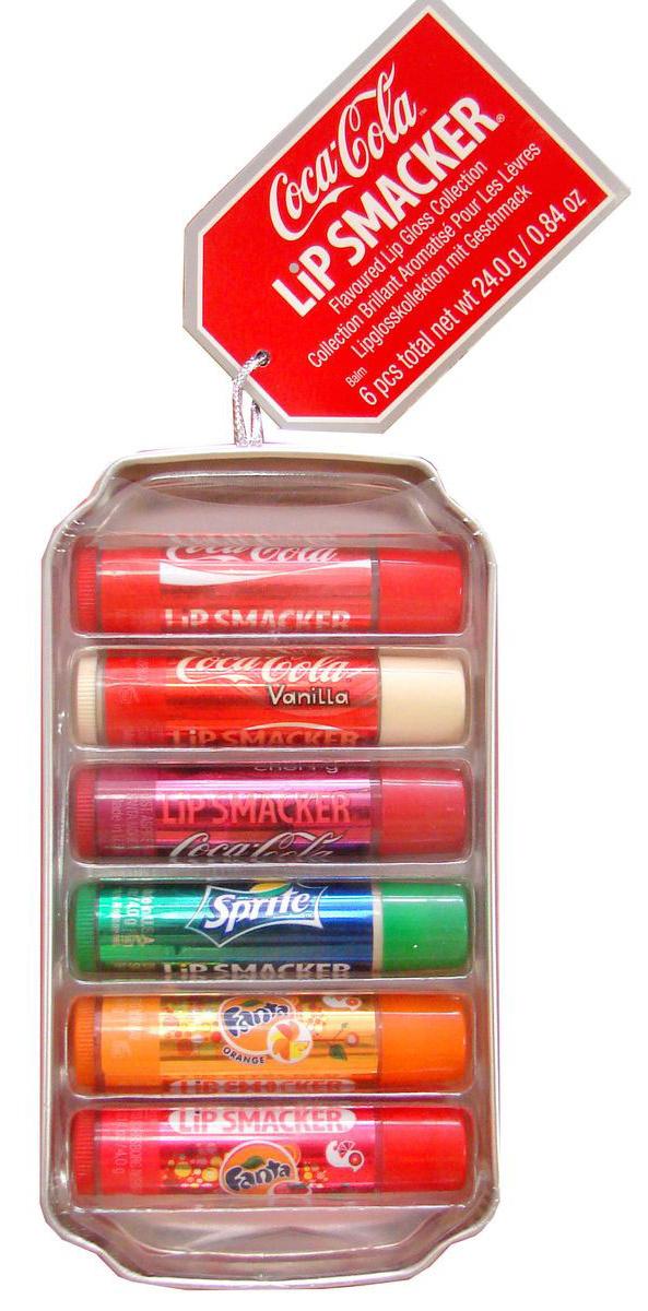 Lip Smacker Набор бальзамов для губ Coca-Cola, Fanta, Sprite, 6 шт29101284005Lip Smacker – это оригинальные блески и бальзамы для губ с самыми разнообразными ароматами. Прекрасно смягчают и увлажняют губы, придавая им сияние.