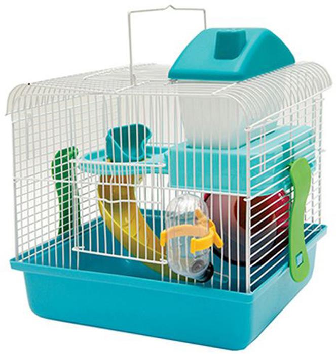 Клетка для грызунов Каскад, с оборудованием, 26 х 20 х 30 см игрушка для животных каскад удочка с микки маусом 47 см