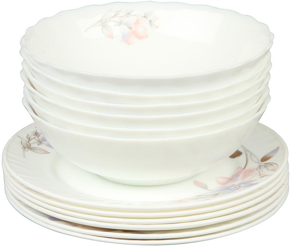 Набор тарелок Rosenberg, 12 предметов. 1261-4 набор тарелок суповых жасмин 22 см 6 шт biona