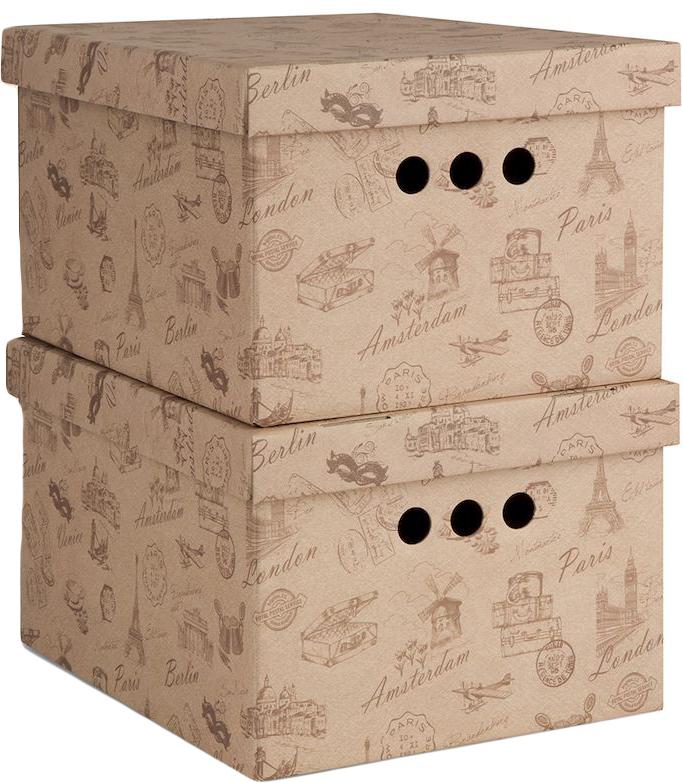 Коробка для хранения Valiant Travelling, складная, 25 х 33 х 18,5 см, 2 шт коробки для хранения valiant кофр travelling photos 2 шт