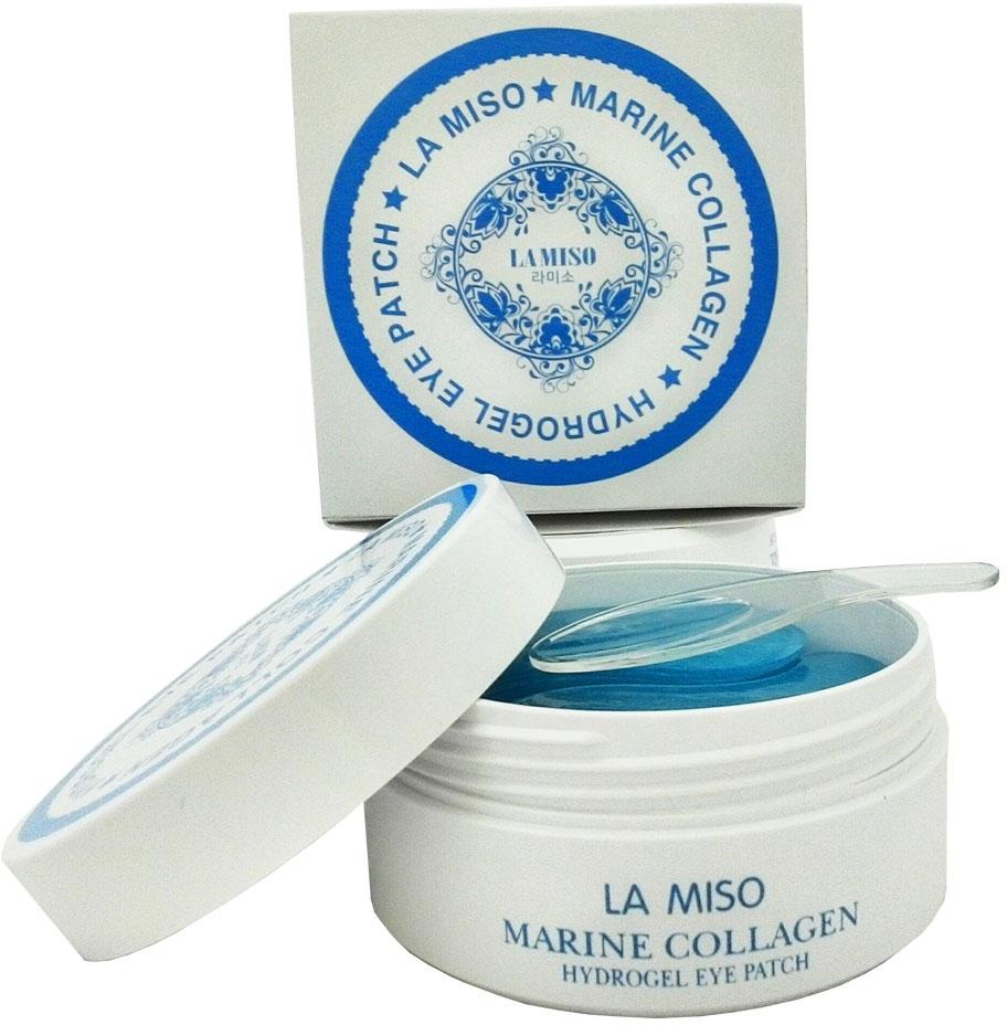La Miso Гидрогелевая маска с морским коллагеном для кожи вокруг глаз, Marine Collagen, 60 шт la miso маска моделирующая альгинатная с коллагеном collagen 1000 г