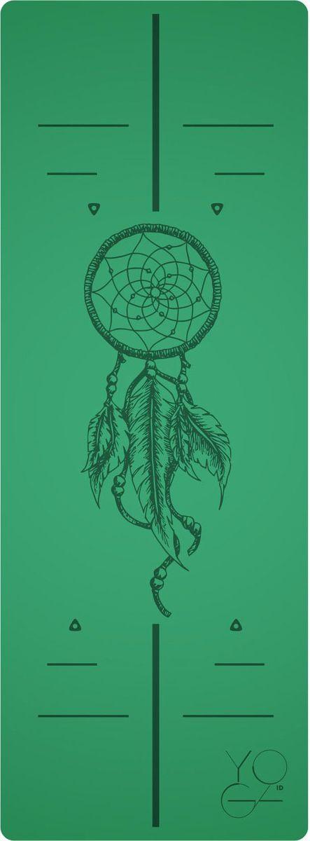 Коврик для йоги Yoga ID Amulet, цвет: зеленый, 185 х 68 х 0,45 см0019Коврик для йоги Yoga ID Amulet - это незаменимый аксессуар для любого спортсмена. Коврик обладает рядом преимуществ:1. Эталон сцепления. Нескользящий коврик для йоги с революционным запатентованным покрытием NON SLIP. С доказано лучшими показателями сцепки на сегодняшний день на рынке. 2. Коврик с разметкой. Для новичков и самых педантичных йогов, которые стремятся к идеальной геометрии асан. 3. Стиль. Фирменные цвета и дизайны бренда YOGA ID. Рисунок-гравировка не стирается и не выгорает. 4. Вес. Коврик увеличенных размеров, обладающий весом стандартного каучукового. Характеристики: Размер: 185 x 680 мм. Толщина: 4,5 мм. Вес: 2,5 кг. Материал: натуральный каучук. В комплект входит переноска для коврика.Йога: все, что нужно начинающим и опытным практикам. Статья OZON Гид