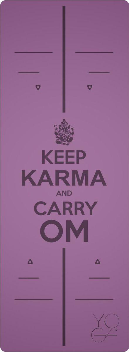 Коврик для йоги Yoga ID Karma, цвет: фиолетовый, 185 х 68 х 0,45 см00211. Эталон сцепления. Нескользящий коврик для йоги с революционным запатентованным покрытием NON SLIP. С доказано лучшими показателями сцепки на сегодняшний день на рынке. 2. Коврик с разметкой. Для новичков и самых педантичных йогов, которые стремятся к идеальной геометрии асан. 3. Стиль. Фирменные цвета и дизайны бренда YOGA ID. Рисунок-гравировка не стирается и не выгорает. 4. Вес. Коврик увеличенных размеров, обладающий весом стандартного каучукового. Характеристики: Размер: 185 x 680 мм. Толщина: 4,5 мм.Вес: 2,5 кг. Материал: натуральный каучук. В комплект входит переноска для коврика.