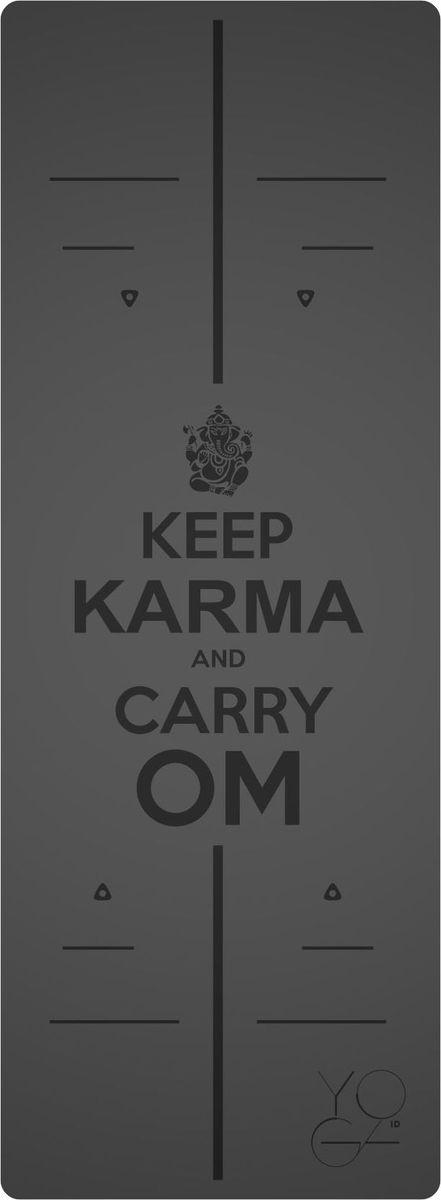 Коврик для йоги Yoga ID Karma, цвет: серый, 185 х 68 х 0,45 см0007Коврик для йоги Yoga ID Karma - это незаменимый аксессуар для любого спортсмена. Коврик обладает рядом преимуществ:1. Эталон сцепления. Нескользящий коврик для йоги с революционным запатентованным покрытием NON SLIP. С доказано лучшими показателями сцепки на сегодняшний день на рынке.2. Коврик с разметкой. Для новичков и самых педантичных йогов, которые стремятся к идеальной геометрии асан.3. Стиль. Фирменные цвета и дизайны бренда YOGA ID. Рисунок-гравировка не стирается и не выгорает.4. Вес. Коврик увеличенных размеров, обладающий весом стандартного каучукового.В комплект входит переноска для коврика.Йога: все, что нужно начинающим и опытным практикам. Статья OZON Гид