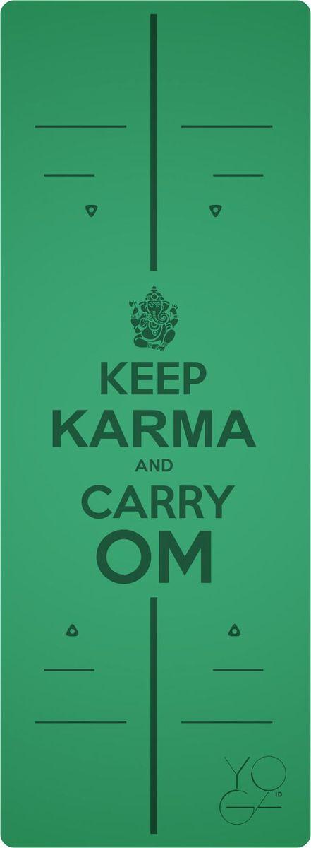 Коврик для йоги Yoga ID Karma, цвет: зеленый, 185 х 68 х 0,45 см0023Коврик для йоги Yoga ID Karma - это незаменимый аксессуар для любого спортсмена. Коврик обладает рядом преимуществ: 1. Эталон сцепления. Нескользящий коврик для йоги с революционным запатентованным покрытием NON SLIP. С доказано лучшими показателями сцепки на сегодняшний день на рынке. 2. Коврик с разметкой. Для новичков и самых педантичных йогов, которые стремятся к идеальной геометрии асан. 3. Стиль. Фирменные цвета и дизайны бренда YOGA ID. Рисунок-гравировка не стирается и не выгорает. 4. Вес. Коврик увеличенных размеров, обладающий весом стандартного каучукового. В комплект входит переноска для коврика.Йога: все, что нужно начинающим и опытным практикам. Статья OZON Гид