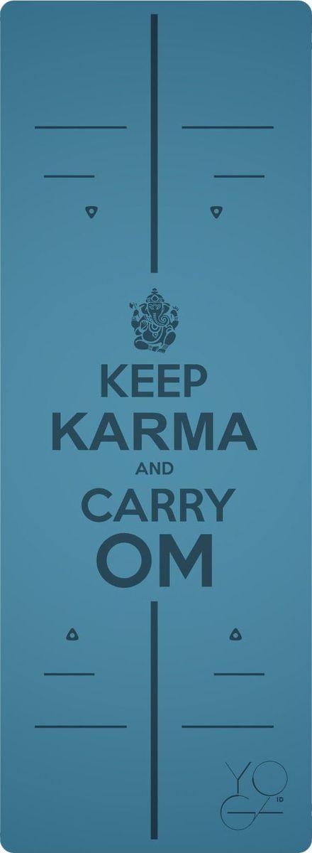 Коврик для йоги Yoga ID Karma, цвет: голубой, 185 х 68 х 0,45 см0024Коврик для йоги Yoga ID Karma - это незаменимый аксессуар для любого спортсмена. Коврик обладает рядом преимуществ: 1. Эталон сцепления. Нескользящий коврик для йоги с революционным запатентованным покрытием NON SLIP. С доказано лучшими показателями сцепки на сегодняшний день на рынке. 2. Коврик с разметкой. Для новичков и самых педантичных йогов, которые стремятся к идеальной геометрии асан. 3. Стиль. Фирменные цвета и дизайны бренда YOGA ID. Рисунок-гравировка не стирается и не выгорает. 4. Вес. Коврик увеличенных размеров, обладающий весом стандартного каучукового. В комплект входит переноска для коврика.Йога: все, что нужно начинающим и опытным практикам. Статья OZON Гид