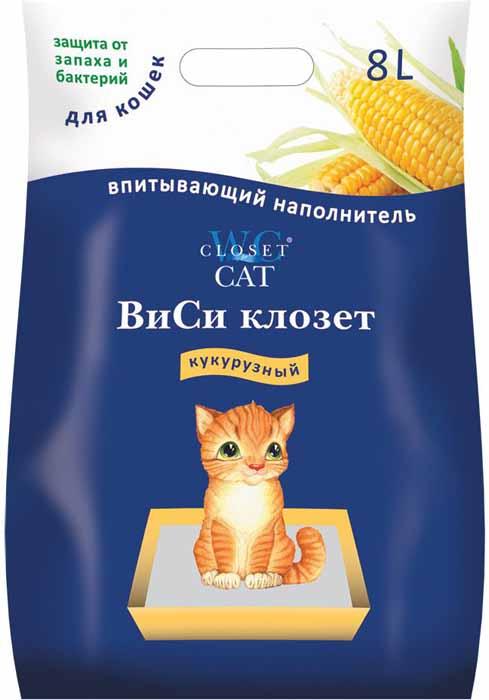 Наполнитель ВиСи Клозет, кукурузный в гранулах, 8 л6662Уникальная кукурузная подстилка-наполнитель премиум-класса для кошек. Полностью безопасен при поедании, содержит зерно кукурузы. Высоте качество наполнителя обусловлено тем, что он изготовлен из высушенной мелкопористой сердцевины кукурузных початков. Обладает уникальной впитывающей способностью-ни моча животного, ни неприятные запахи не найдут выхода из кукурузного наполнителя. 1кг. наполнителя удерживает не менее 2-х литров жидкости. Наполнитель может использоваться не только для кошек и котят, но и для других Ваших подопечных: хомячков, крыс, мышек, морских свинок, шиншил, кроликов, попугаев, канареек и маленьких собачек.