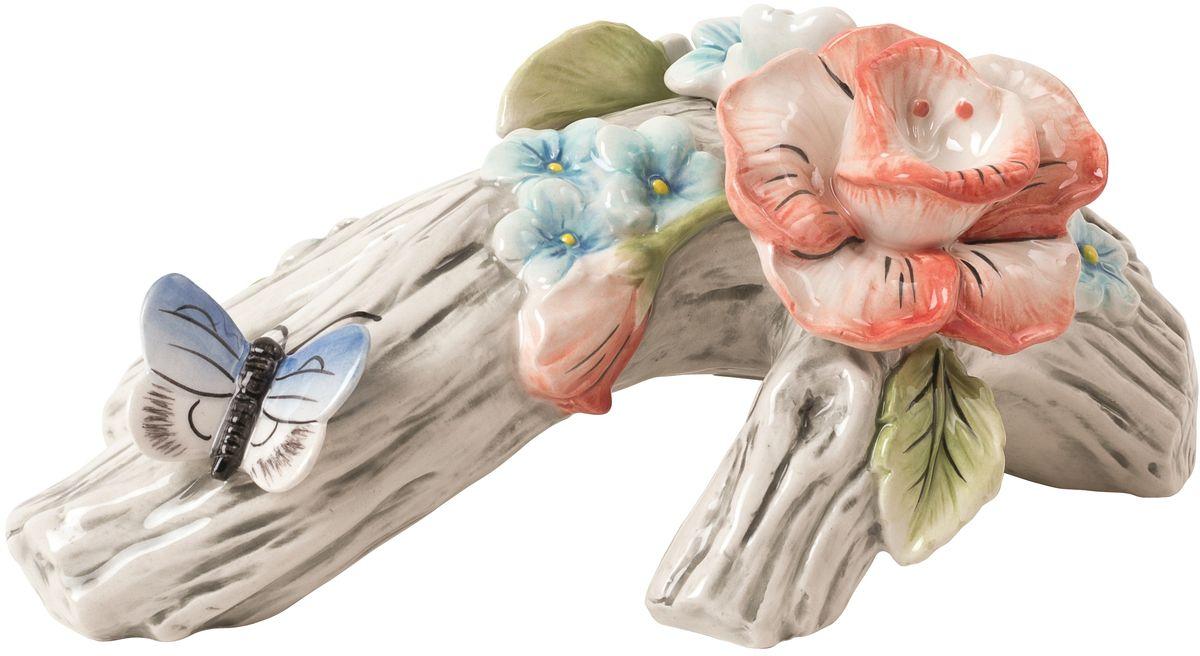 Подсвечник декоративный Fitz and Floyd Цветочный узор20-641Подсвечник Материал - керамика, расписанная вручнуюРекомендуется бережная ручная мойка с использованием безабразивных моющих средствПодарочная упаковка.