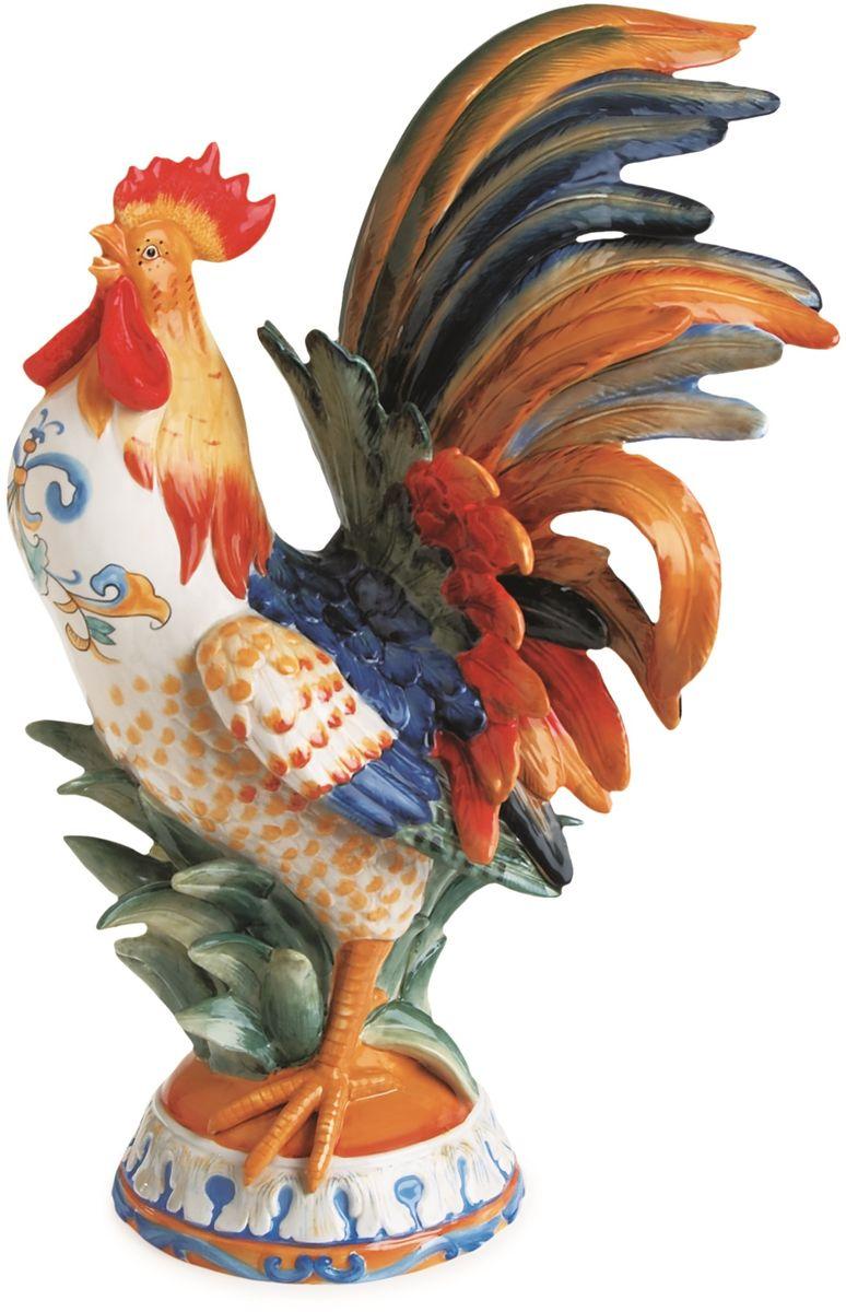 Фигурка декоративная Fitz and Floyd Рикамо. Петух63-464Большая фигура петуха выполнена из керамики высокого качества по технологии двойного обжига и раскрашена вручную экологически чистыми красками. Фигура изображает гордого кричащего петуха с пышным хвостом из разноцветных перьев и украшена объемным декором в виде сочной травы. Она наполнит интерьер атмосферой и колоритом итальянского лета. Рекомендуется бережная ручная мойка с использованием безабразивных моющих средств.
