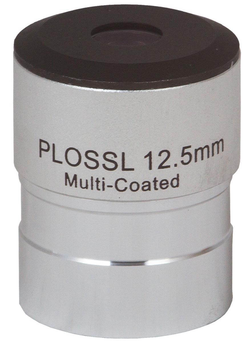 Sky-Watcher Plossl окуляр 12,5 мм, 1,2568778Sky-Watcher Plossl 12,5 мм – это качественный четырехэлементный окуляр для наблюдения астрономических объектов. Прекрасная стеклянная оптика формирует резкое и контрастное изображение по всему полю зрения. Для лучшего светопропускания на оптические поверхности нанесено полное просветляющее покрытие. Окуляр можно устанавливать на телескопы любых производителей. Посадочный диаметр этой модели стандартный – 1,25. Комплектуется двумя защитными крышками.