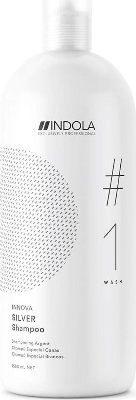 Indola Professional Нейтрализующий шампунь для волос с содержанием пурпурных пигментов Silver #1 Wash Innova, 1,5 л2203764Нейтрализующий шампунь для волос с содержанием пурпурных пигментов, нейтрализует желто-медные тона, востанавливает структуру волоса, мягко очищает. Формула содержит Пиксельную Технологию.
