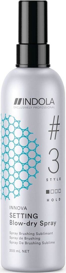 Indola Professional Спрей для быстрой сушки волос Setting #3 Style Innova, 200 мл2204590Спрей для быстрой сушки обеспечивает более быстрое высыхание волос. Разглаживает, облегчает расчесывание и обеспечивает легкуюфиксацию, защищает волосы при термообработке. Пиксельной Технологии помогает защитить волосы от УФ-лучей.