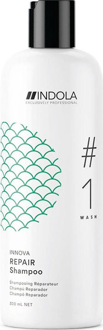 Indola Professional Восстанавливающий шампунь для волос Repair #1 Wash Innova, 300 млE2200Восстанавливающий шампунь для волос c содержанием Масла Марулы, наполняет структуру волоса изнутри для более глубокого питания и снижает ломкость волос до 95%. Формула с Пиксельной Технологией возвращает волосам первозданное качество, обеспечивая сияние цвета.