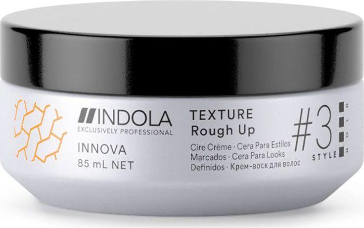Indola Professional Текстурирующий крем-воск для волос Texture Rough Up Innova Style # 3 Hold, 85 мл2206359Предназначен для экстремально матовых и жестких укладок с сильной фиксацией. УФ-фильтр как часть пиксельной технологии помогает защитить от УФ-лучей.