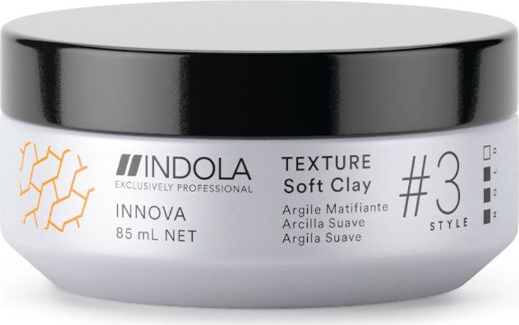 Indola Professional Клей для волос Texture Soft Clay Innova Style # 3 Hold, 85 мл концентрат indola professional classic neutraliser 1000 мл