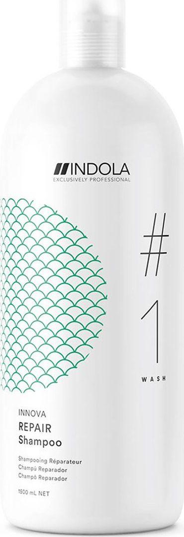 Indola Professional Восстанавливающий шампунь для волос Repair #1 Wash Innova, 1,5 л2206366Восстанавливающий шампунь для волос c содержанием Масла Марулы, наполняет структуру волоса изнутри для более глубокого питания и снижает ломкость волос до 95%. Формула с Пиксельной Технологией возвращает волосам первозданное качество, обеспечивая сияние цвета.