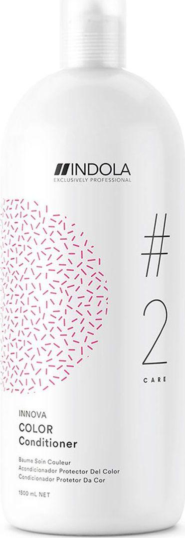 Indola Professional Кондиционер для окрашенных волос Color #2 Care Innova, 1,5 л2206369Кондиционер для окрашенных волос обогащенный Протеинами Шелка, распутывает и смягчает волосы, при этом запечатывает цвет внутри волоса и препятствует его потере на 90% даже после 30 применений шампуня. Формула с Пиксельной Технологией придает волосам непревзойденное качество и обеспечивает блеск.