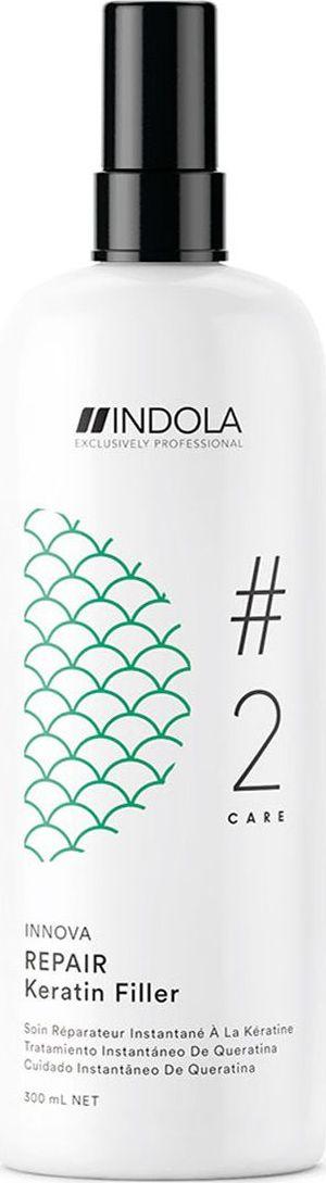 Indola Professional Восстанавливающий кератиновый филлер Repair #2 Care Innova, 300 мл2207057Восстанавливающий кератиновый филлер обогащен Маслом Марулы, наполняет структуру волоса изнутри для более глубокого питания и снижает ломкость до 95%. Формула с Пиксельной Технологией возвращает волосам первозданное качество, обеспечивая сияние цвета. Для достижения максимального результата используйте Флюид в комплексе с продуктами ухода линии REPAIR.