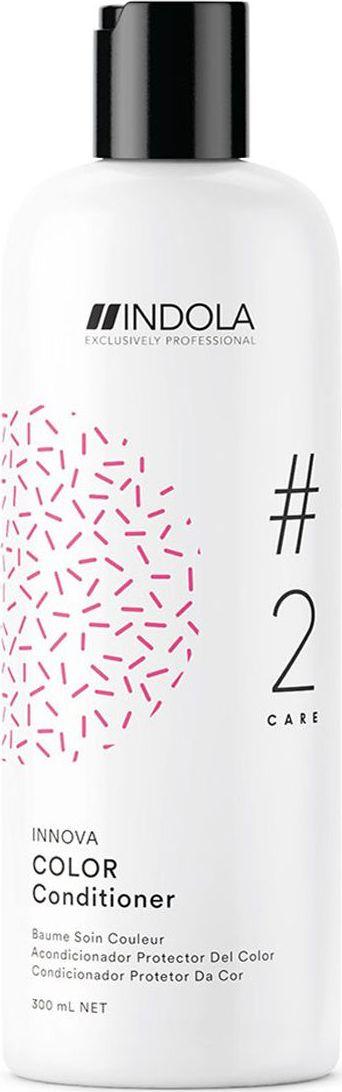 Indola Professional Кондиционер для окрашенных волос Color #2 Care Innova, 300 мл2207059Кондиционер для окрашенных волос обогащенный Протеинами Шелка, распутывает и смягчает волосы, при этом запечатывает цвет внутри волоса и препятствует его потере на 90% даже после 30 применений шампуня. Формула с Пиксельной Технологией придает волосам непревзойденное качество и обеспечивает блеск.