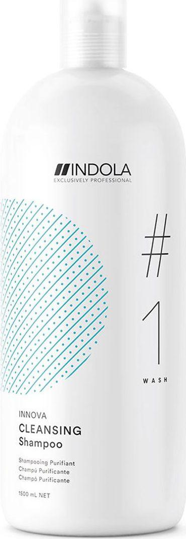 Indola Professional Очищающий шампунь для волос Cleansing #1 Wash Innova, 1,5 л2207060Очищающий шампунь для волос обогащен экстрактом корня Женьшеня, глубоко очищает, удаляет загрязнения, остатки продуктов стайлинга, освежает волосы и кожу головы, сохраняя питательные компоненты. Формула с Пиксельной Технологией возвращает волосам первозданное качество, обеспечивая сияние цвета.
