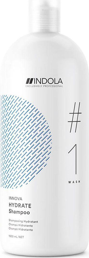 Indola Professional Увлажняющий шампунь для волос Hydrate #1 Wash Innova, 1,5 л2207061Увлажняющий шампунь. Входящее в состав Масло Жожоба идеально восстанавливает влагу в волосах и питает сухие волосы, обеспечивая более легкое расчесывание. Формула с Пиксельной Технологией возвращает волосам первозданное качество, обеспечивая сияние цвета.