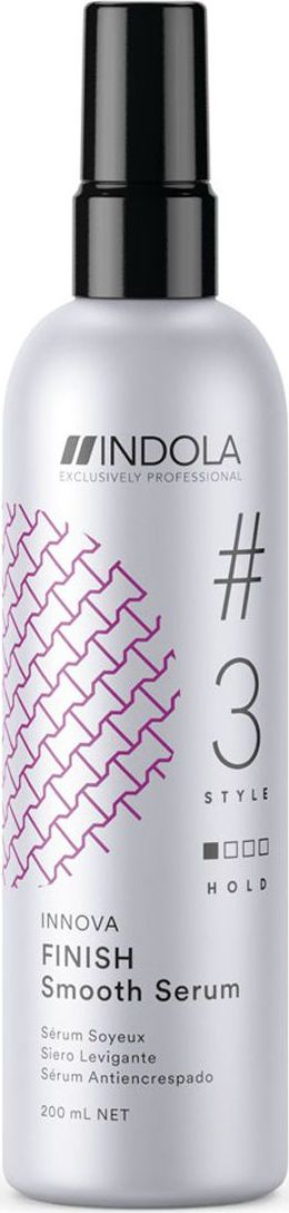 Indola Professional Сыворотка для придания гладкости волосам Finish #3 Style Innova, 200 мл2207157Сыворотка для придания гладкости волосам обеспечивает красивый блеск иантистатический контроль. УФ-фильтры, входящие в состав Пиксельной Технологии, помогают защитить волосы от УФ-лучей.
