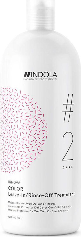 Indola Professional Маска для окрашенных волос Color #2 Care Innova, 1,5 л2207160Маска для окрашенных волос с содержанием Протеинов Шёлка, обеспечивает глубокий уход, помогает зафиксировать цвет окрашенных волос, сохраняя его до 90% даже после 30 применений шампуня. Формула с Пиксельной Технологией возвращает волосам первозданное качество, обеспечивая сияние цвета.